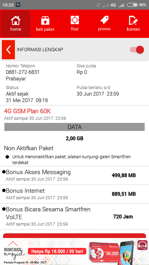 """Review Kartu Smartfren GSM """"Dapat 2 GB Tiap Isi 60 Ribu"""
