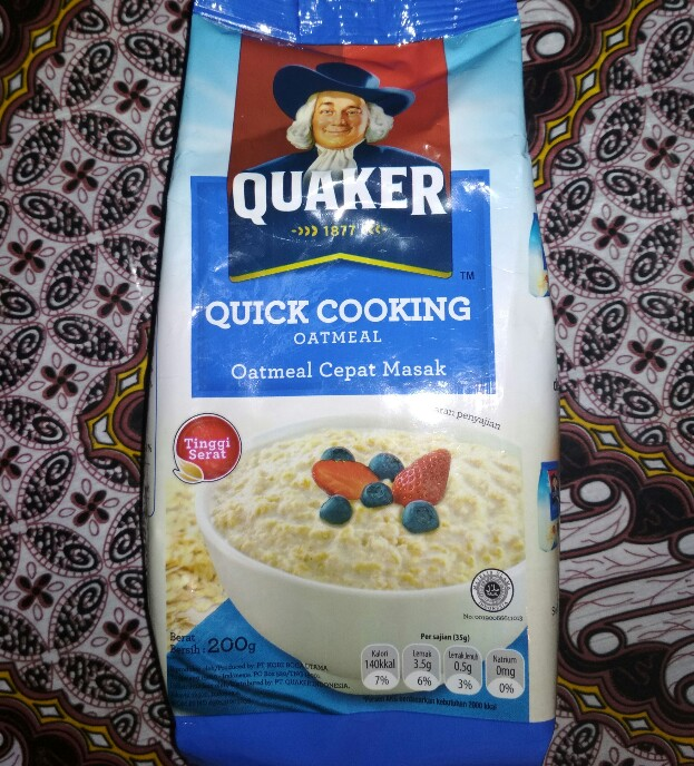 Quaker Oatmeal Quaker Biru Kudu Dimasak Dulu